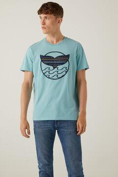 Springfield T-shirt baleia azul