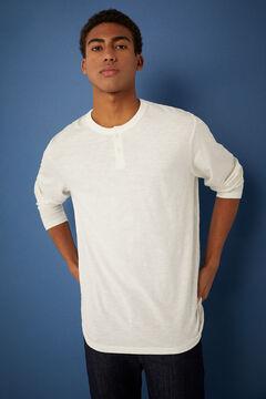 Springfield Henley long-sleeved t-shirt ecru