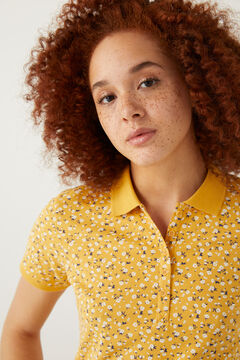 Springfield Organic cotton polo shirt yellow