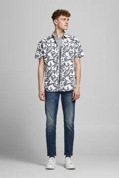 Springfield Camisa algodón manga corta blanco