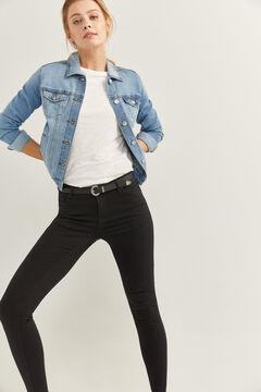 Springfield Jeans Jegging Lavado Sostenible negro