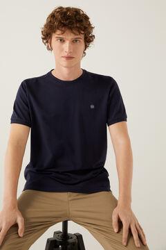 Springfield Piqué logo t-shirt bluish
