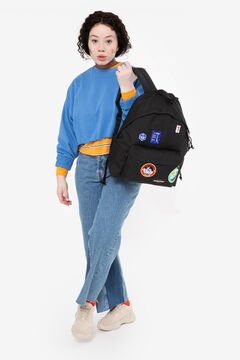 Springfield Backpacks PADDED PAK'R PATCHED BLACK  natural