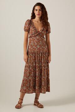 Springfield Flounced neckline midi dress 36