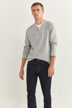 Springfield Long-sleeved Henley t-shirt gray