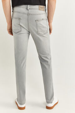 Springfield MEDIUM-LIGHT GREY WASH SLIM FIT JEANS grey