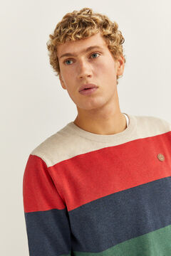 Springfield Melange stripes jumper gray