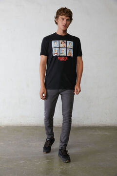 Springfield Stranger Things T-shirt black