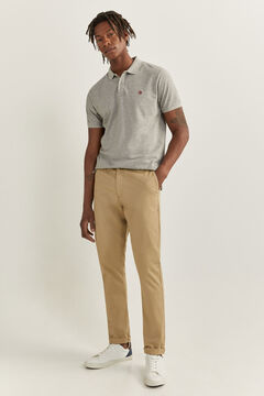 Springfield SLIM FIT WELT WAISTBAND CHINOS camel