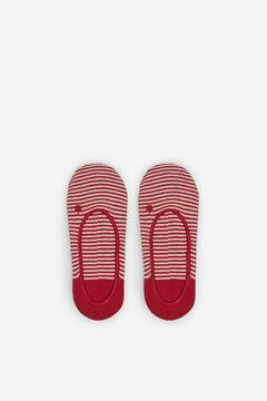 Springfield Chaussette invisible rayures  rouge