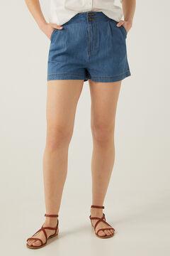 Springfield Short jean baggy bleu acier
