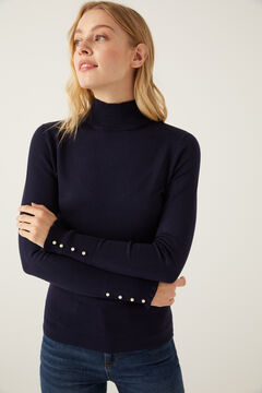 Springfield Button Cuff Jumper blue