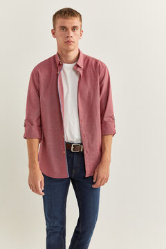 Springfield TEXTURED SHIRT deep red