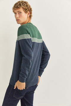 Springfield Essential colour block jumper green