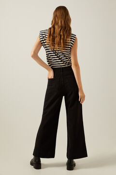 Springfield Sustainable Wash Culotte Jeans black