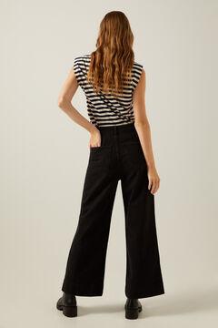 Springfield Jeans Culotte nachhaltige Waschung schwarz