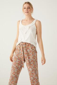 Springfield Tie waist printed trousers 36