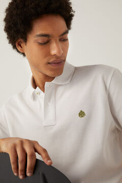 Springfield Essential piqué polo shirt white