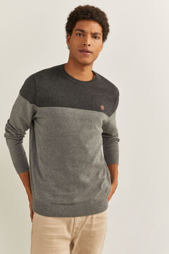 Springfield COLOUR BLOCK MELANGE JUMPER grey