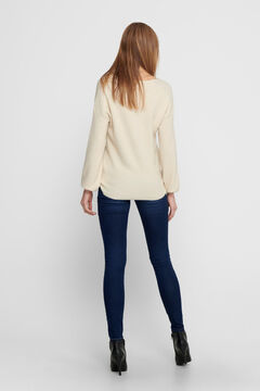 Springfield Balloon sleeve knit jumper white