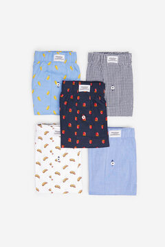 Springfield 5-PACK FOOD WOVEN BOXERS blue