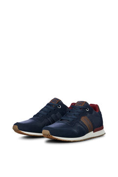 Springfield Two-tone faux leather urban sneakers navy