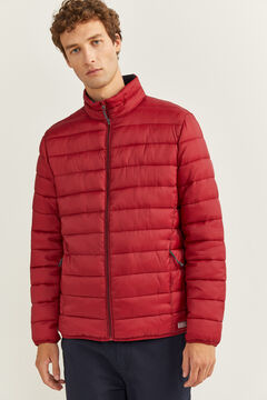 Springfield QUILTED JACKET WITH RECYCLED POLYESTER PADDING royal red