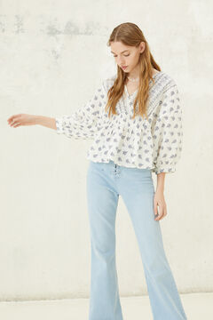 Springfield Printed blouse white