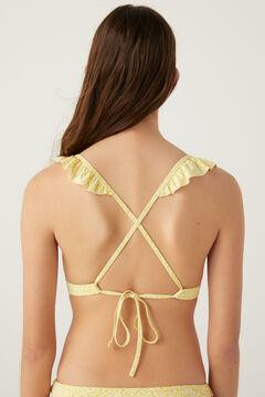 Springfield Top bikini volantes amarillo
