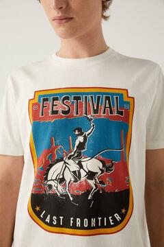 Springfield Cowboy t-shirt ecru