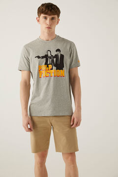 Springfield Camiseta Pulp Fiction plomo mezcla