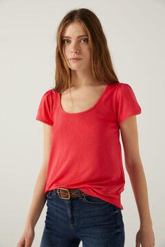 Springfield Camiseta bolitas lace rojo