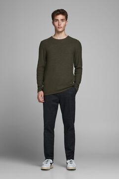 Springfield Plain organic cotton jumper green