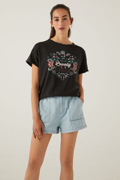 Springfield Lovely Honestly T-shirt black