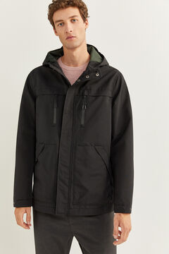 Springfield WATER-REPELLENT, WINDPROOF, AND BREATHABLE SHORT PARKA black