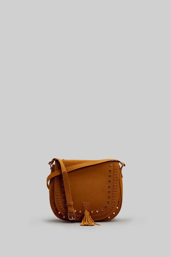 Springfield Crossbody Bag With Tassels Brown