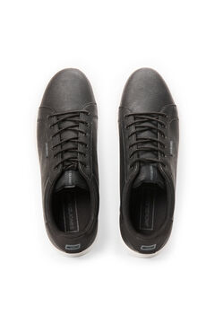 Springfield Faux leather sneakers fekete