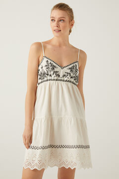 Springfield Contrast embroidery short dress grey
