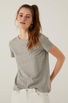 Springfield Camiseta tachas cristal gris