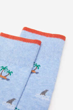 Springfield Sea socks steel blue