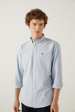 Springfield Pinpoint shirt blue