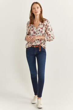 Springfield Printed flounced blouse natural