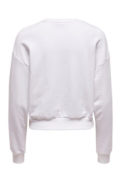 Springfield 100% organic cotton sweatshirt white