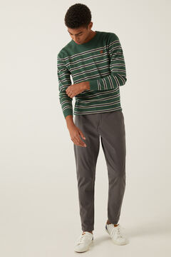 Springfield Essential melange stripes jumper green