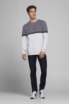 Springfield Sustainable colour block jumper gray