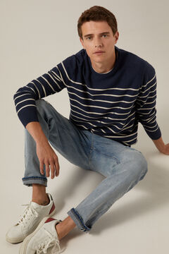 Springfield Navy-stripe jumper blue