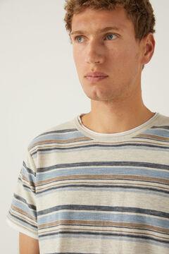 Springfield Short-sleeved striped jumper grey