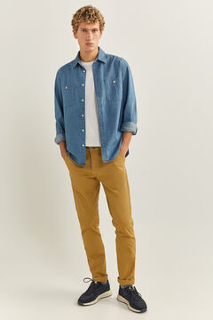 Springfield Essential slim chinos golden