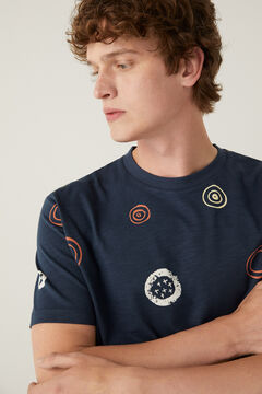 Springfield Ethnic T-shirt navy mix