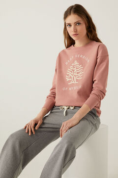 Springfield Organic cotton Springfield tree logo sweatshirt pink